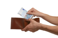 Euros in the wallet Royalty Free Stock Images