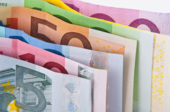 Eurosamling royaltyfri bild