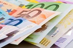 Eurosamling arkivfoto