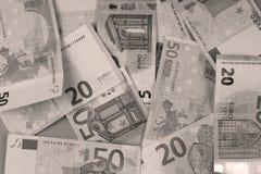 Eurosedelbakgrund Arkivfoto