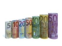 Eurosedelserie Royaltyfri Fotografi