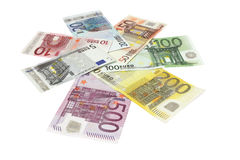 Eurosedlar Arkivfoton