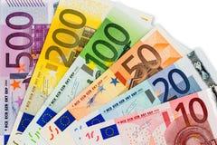 Eurosedlar Royaltyfri Fotografi