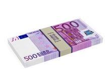 500 eurosedlar Arkivbild