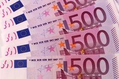 500 eurosedlar, europeisk valuta Royaltyfri Foto