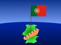 eurosgraföversikt portugal royaltyfri illustrationer