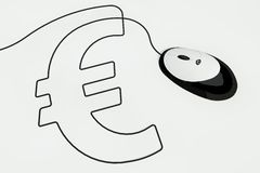 Eurosign drawn with mouse wire Stock Image