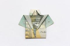 Euroskjortan noterar pengar Fotografering för Bildbyråer