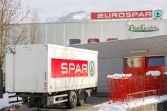 Eurospar delivery Stock Photography
