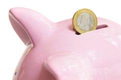 eurosparande royaltyfri bild