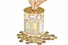 Eurosparungen stockfotografie