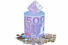 Eurosparungen lizenzfreie stockfotos