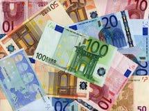 eurospengar Royaltyfri Fotografi