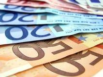 eurospengar Arkivfoto