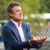 Eurosport analyst Mats Wilander comments tennis match at US Open 2016 Stock Image