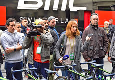 Eurosport Film Crew stock photo