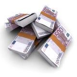 500 Eurostapels stock illustratie