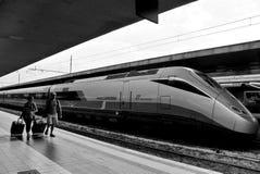 Eurostar тренирует стоковое изображение rf