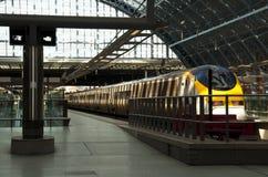 Eurostar bij St Pancras post Royalty-vrije Stock Foto