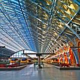 Eurostar coloca St Pancras Londres Fotos de archivo libres de regalías