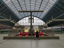 Eurostar Londyn Terminal Fotografia Stock