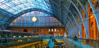 Eurostar St Pancras Internatioanl Railway Station Royalty Free Stock Photos
