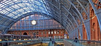 Eurostar St Pancras Internatioanl Railway Station Stock Images