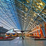 Eurostar stationieren St Pancras London Lizenzfreie Stockfotos