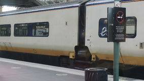 Eurostar train on platform stock video footage
