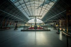 Eurostar Trains at St Pancras Station in London royalty free stock photos