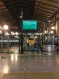 Eurostar treina o motor visto da plataforma de chegada em Gare du Nord, Paris, França fotografia de stock