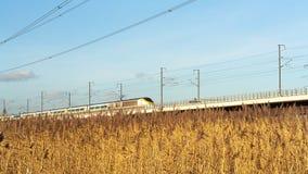 Eurostar utbildar en - rutt Arkivfoto