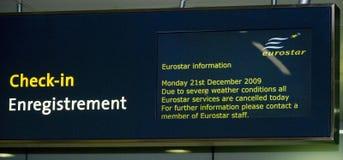 Eurostar-Zusammenbruch Lizenzfreies Stockbild