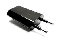 Eurostecker USB-Reiseladegerätadapter Stockfotos