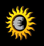 eurosun royaltyfri illustrationer