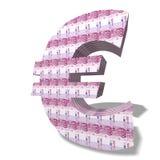 eurosymbol royaltyfri foto