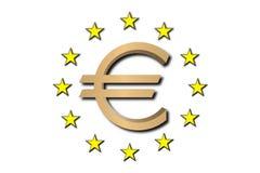 Eurosymbol golden Stockbilder
