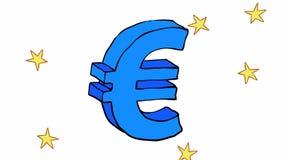 Eurosymbol med animering lager videofilmer