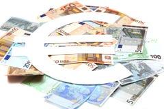 eurosymbolet Royaltyfri Fotografi
