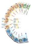 eurosymbolet Arkivfoto