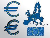 eurotecken Royaltyfria Bilder