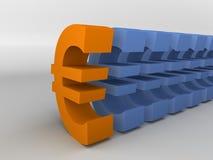 eurotecken stock illustrationer