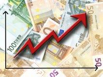 eurotillväxt arkivfoto