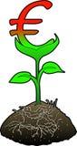 eurotillväxtsymbol Royaltyfria Foton