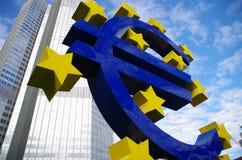 Eurotower, Frankfurt magistrala - Am - Zdjęcie Stock