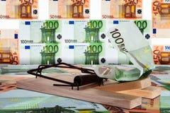 Eurotrap en zone euro Photo libre de droits