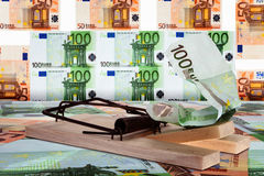 Eurotrap nell'euroarea Fotografia Stock Libera da Diritti
