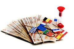 eurotryck under Arkivfoto