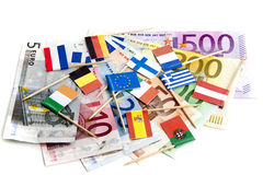 eurotryck under Fotografering för Bildbyråer