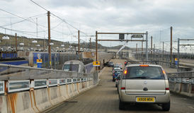 Eurotunnel car train Royalty Free Stock Photos